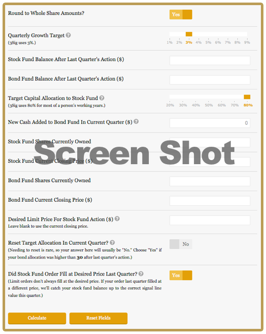 3Sig Calculator screen shot