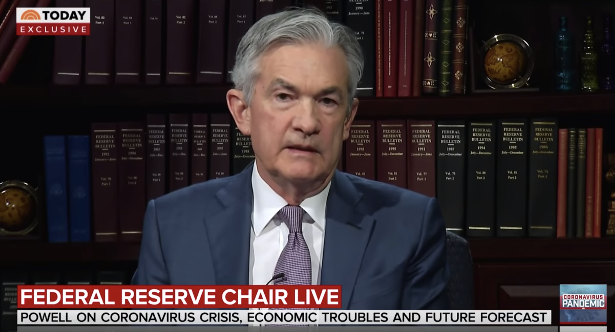 Federal Reserve Chairman Jerome Powell on the Today Show, 26 March 2020